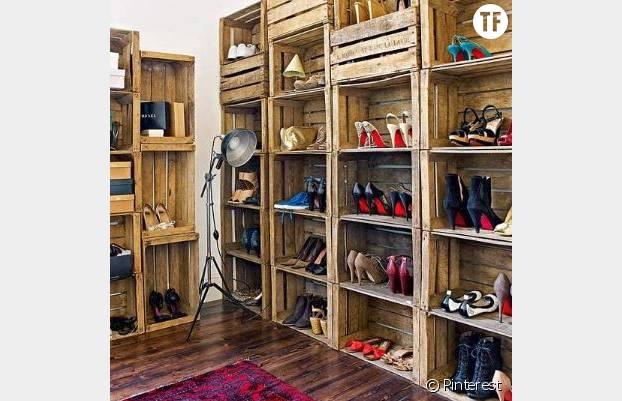 Un dressing à chaussures
