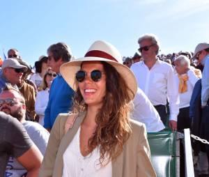 Noura El Shwekh, la compagne de Jo Wilfried Tsonga dans les tribunes des 1/4 de finales du tournoi de Monte Carlo Rolex Masters, le 15 avril 2016
