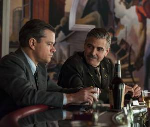 George Clooney et Matt Damon dans le film Monuments Men