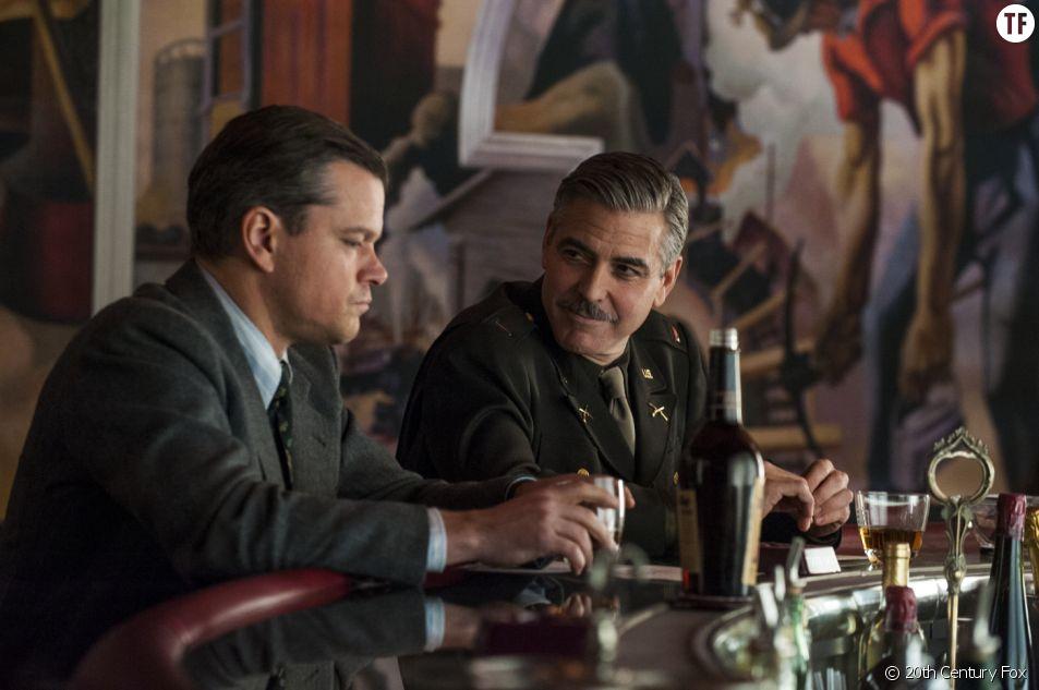 George Clooney et Matt Damon dans le film Monuments Men