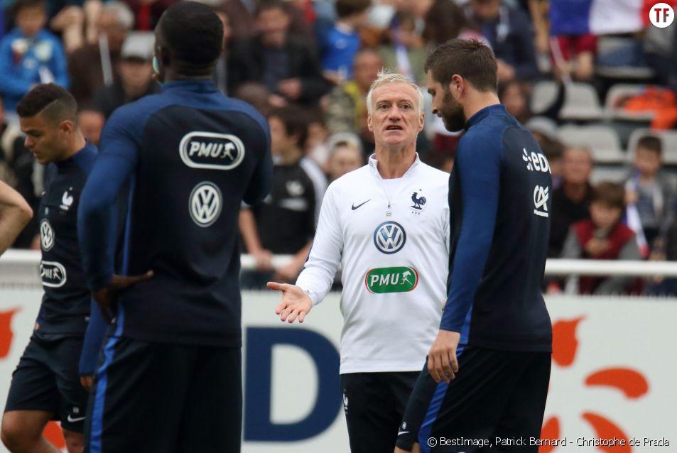 Didier Deschamps et André-Pierre Gignac - équipe de France de football