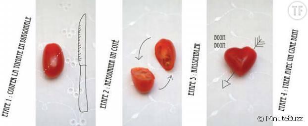 Illuminez votre apéro avec ces petites tomates cerises en coeur absolument craquantes !