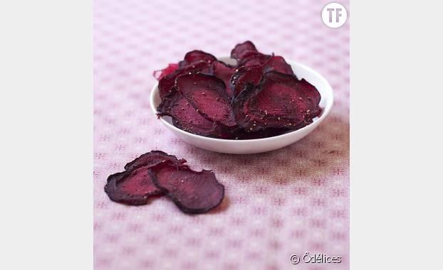 Des chips de betterave pour colorer vos apéros en leur donnant une petite touche healthy !