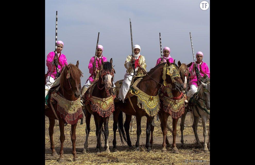 L'équipe féminine de fantasia de Rabat