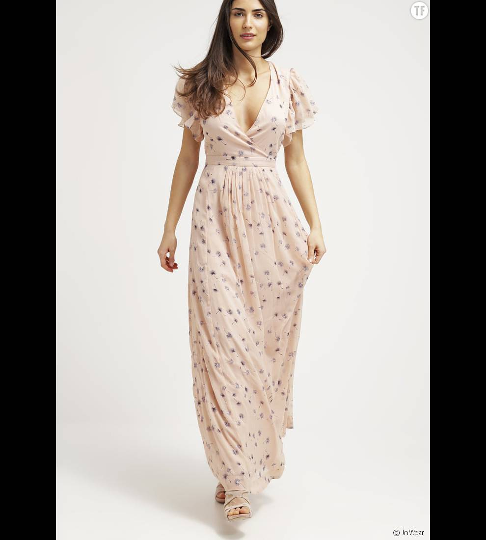 Robe longue fleurie taille empire InWear 129,95 euros sur Zalando