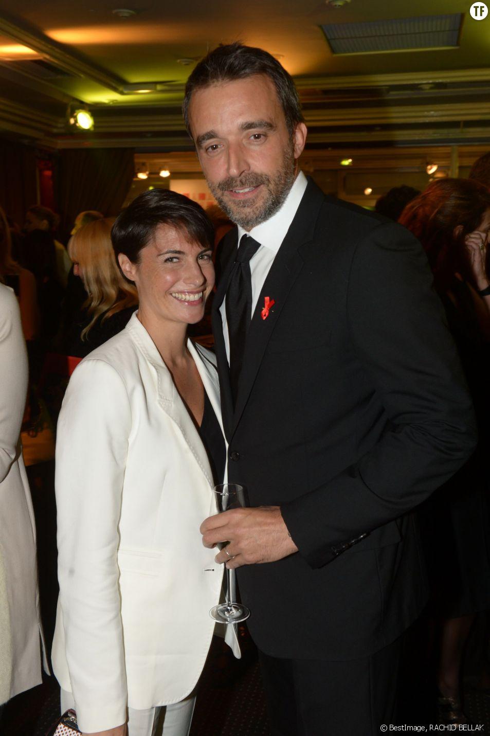 Alessandra Sublet et son mari Clément Miserez au dîner de la mode pour le Sidaction à Paris en janvier 2014