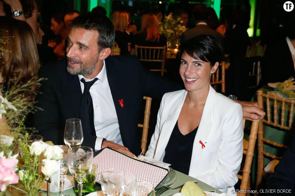 Alessandra Sublet et son mari Clement au diner de la mode pour le Sidaction à Paris, le 23 janvier 2014.