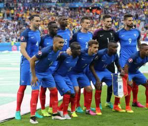 L'Equipe de France au match d'ouverture de l'Euro 2016, France-Roumanie au Stade de France, le 10 juin 2016