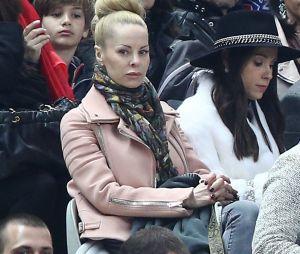 Helena Seger, la femme de Zlatan Ibrahimovic - finale de la Coupe de la Ligue entre le PSG et Bastia le 11 avril 2015