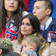 Marine Lloris au match d'ouverture de l'Euro 2016, France-Roumanie au Stade de France, le 10 juin 2016
