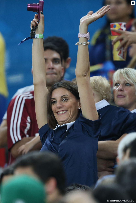 Marine Lloris assiste au match France - Equateur à Rio de Janeiro au Brésil le 25 juin 2014 (coupe du monde)