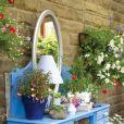 Un bureau transformé en jardinière
