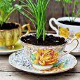 Des tasses à fleurs
