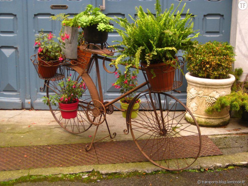 un v u00e9lo pot de fleurs