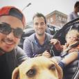 Alex Goude, son mari Romain, et leur fils Elliot