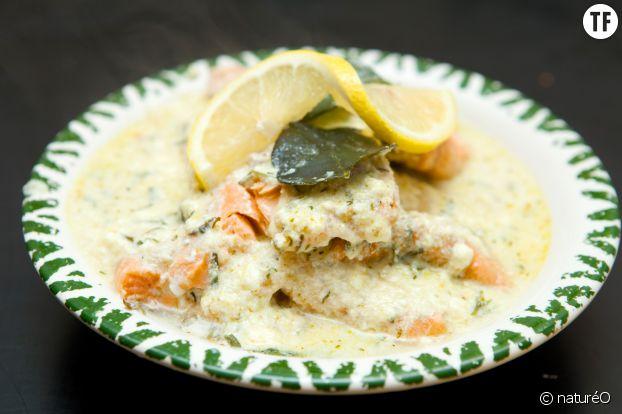 La recette du pavé de saumon en blanquette et petits légumes sans gluten