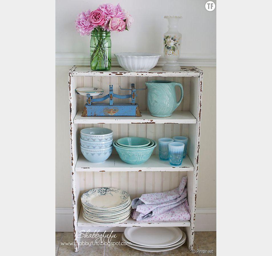 Décoration shabby : un vaisselier trop chou