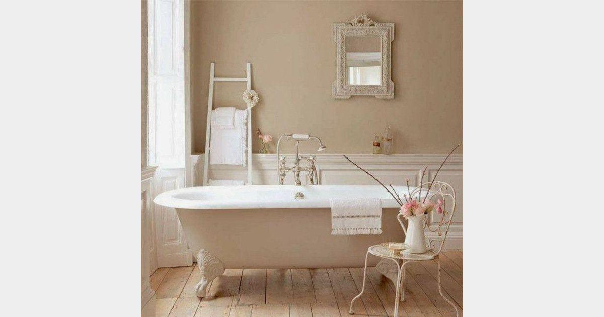 Décoration shabby : une salle de bain dans des tons rose ...