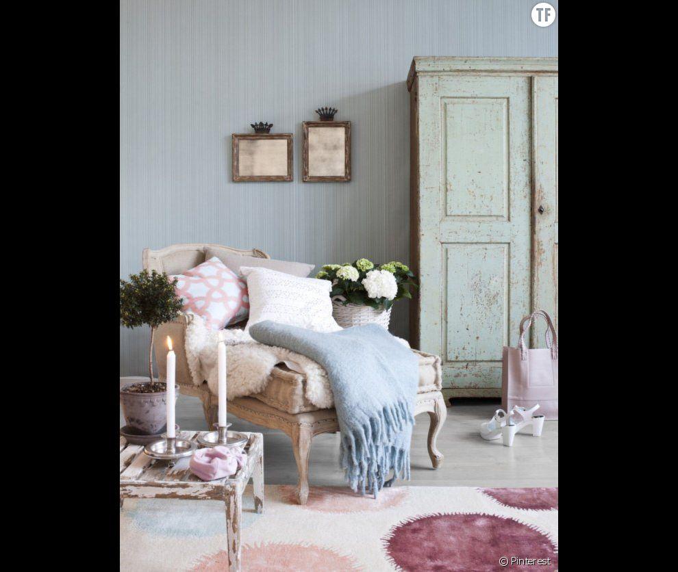 Décoration shabby : une pièce à vivre tendre et chaleureuse ...