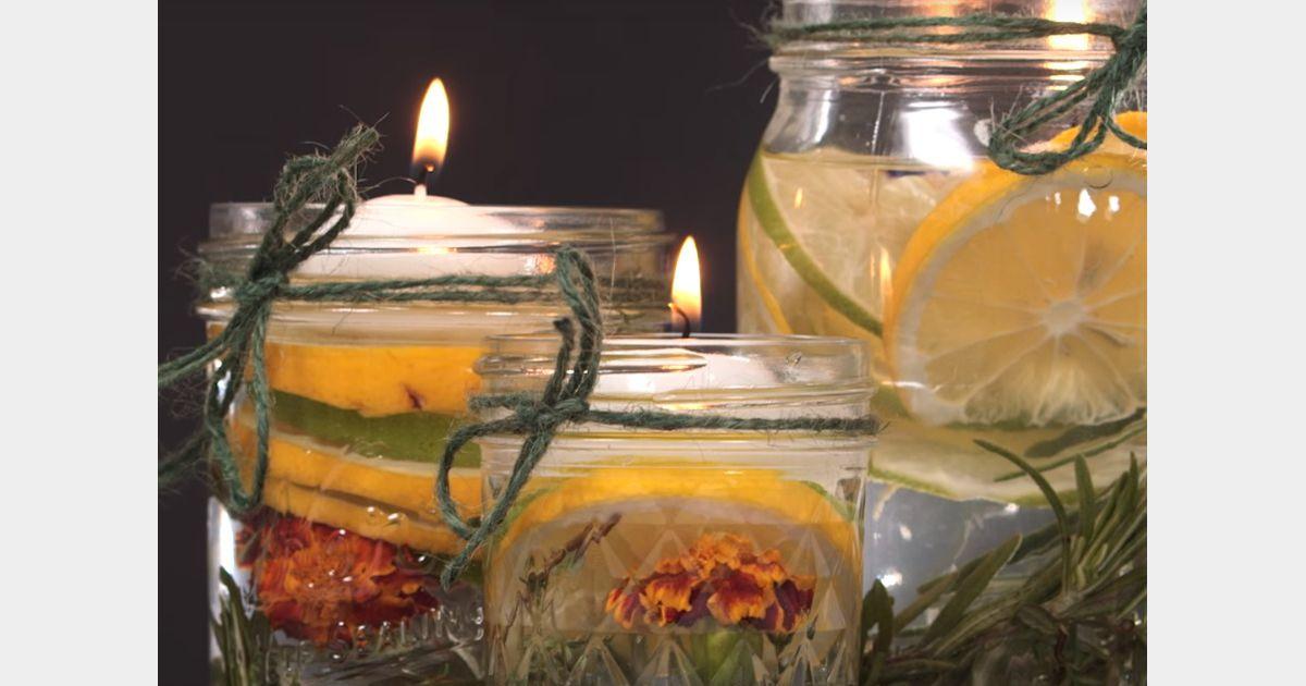 Diy comment fabriquer une bougie la citronnelle contre - Comment personnaliser une bougie ...
