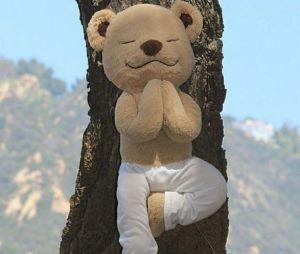 Meddy, le nounours qui encourage les enfants à faire du yoga