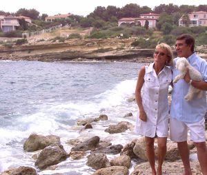 Jean-Pierre Foucault et sa compagne Evelyn Jarre en 2000