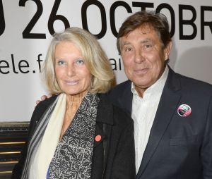 Jean-Pierre Foucault et sa compagne Evelyne Jarre en 2014