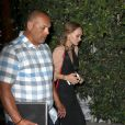 "Johnny Depp et ses enfants Lily-Rose et Jack John Christopher, sortent du restaurant ""Ago"" à Los Angeles, le 29 juin 2016"