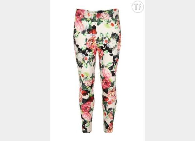 Le legging à fleurs