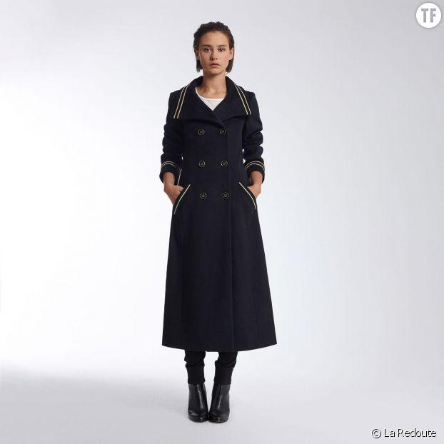 Manteau officier en laine mélangée La Redoute