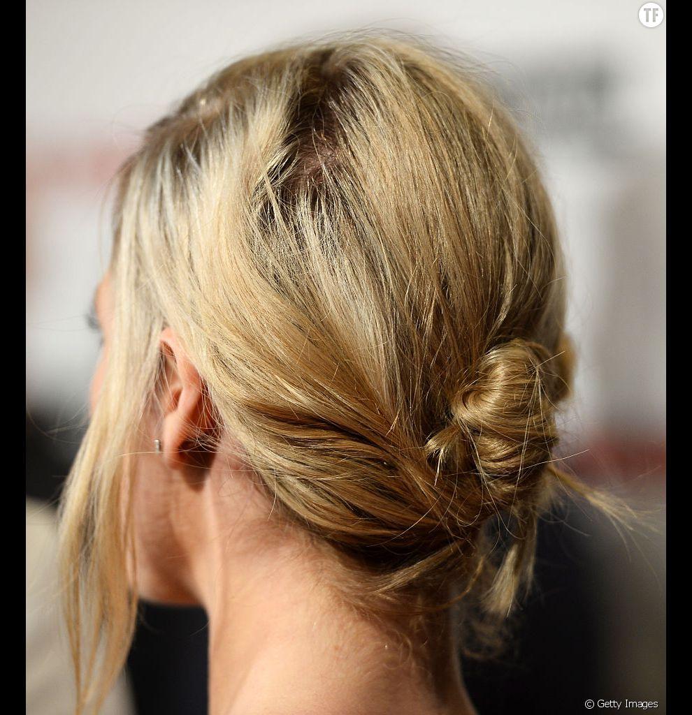 Un chignon coiffé/décoiffé qui en jette sur des cheveux fins !