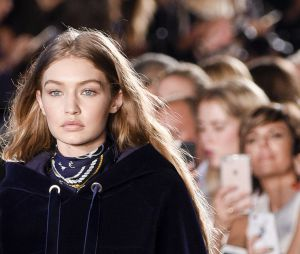 Gigi Hadid au défilé Tommy Hilfiger, Fashion Week de New York, septembre 2016