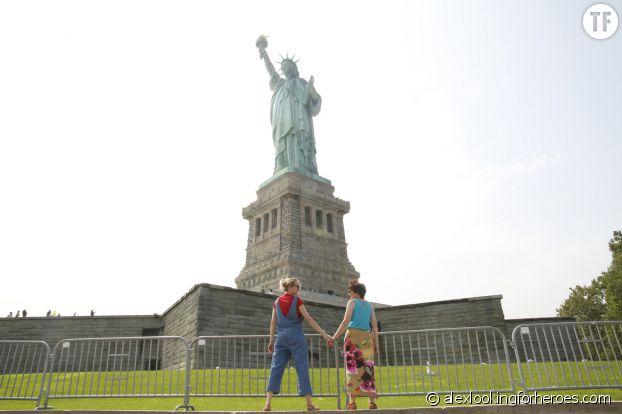 Alex Pawlowsha et sa mère à New York