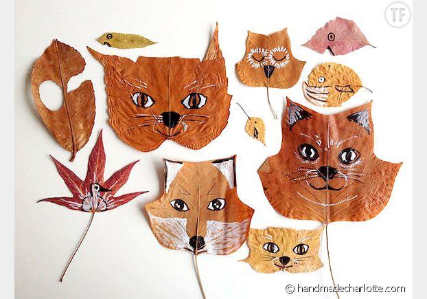 Des animaux originaux avec des feuilles mortes