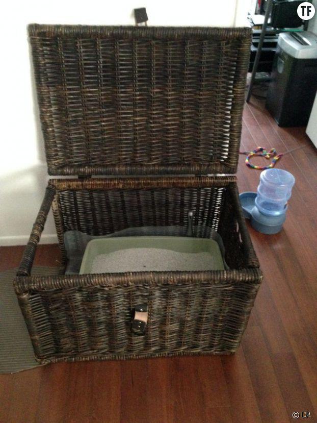 diy 6 id es d co pour cacher la liti re de votre chat. Black Bedroom Furniture Sets. Home Design Ideas
