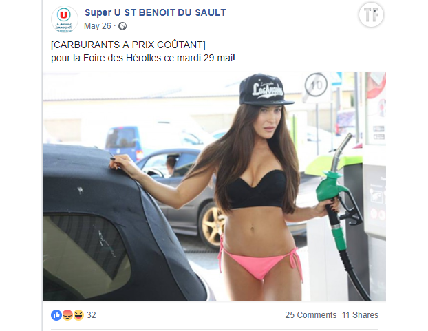 Une photo sexiste du Super U de Saint-Benoit-du-Sault