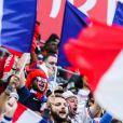Des supporters pendant la demi-finale France-Belgique de la Coupe du monde
