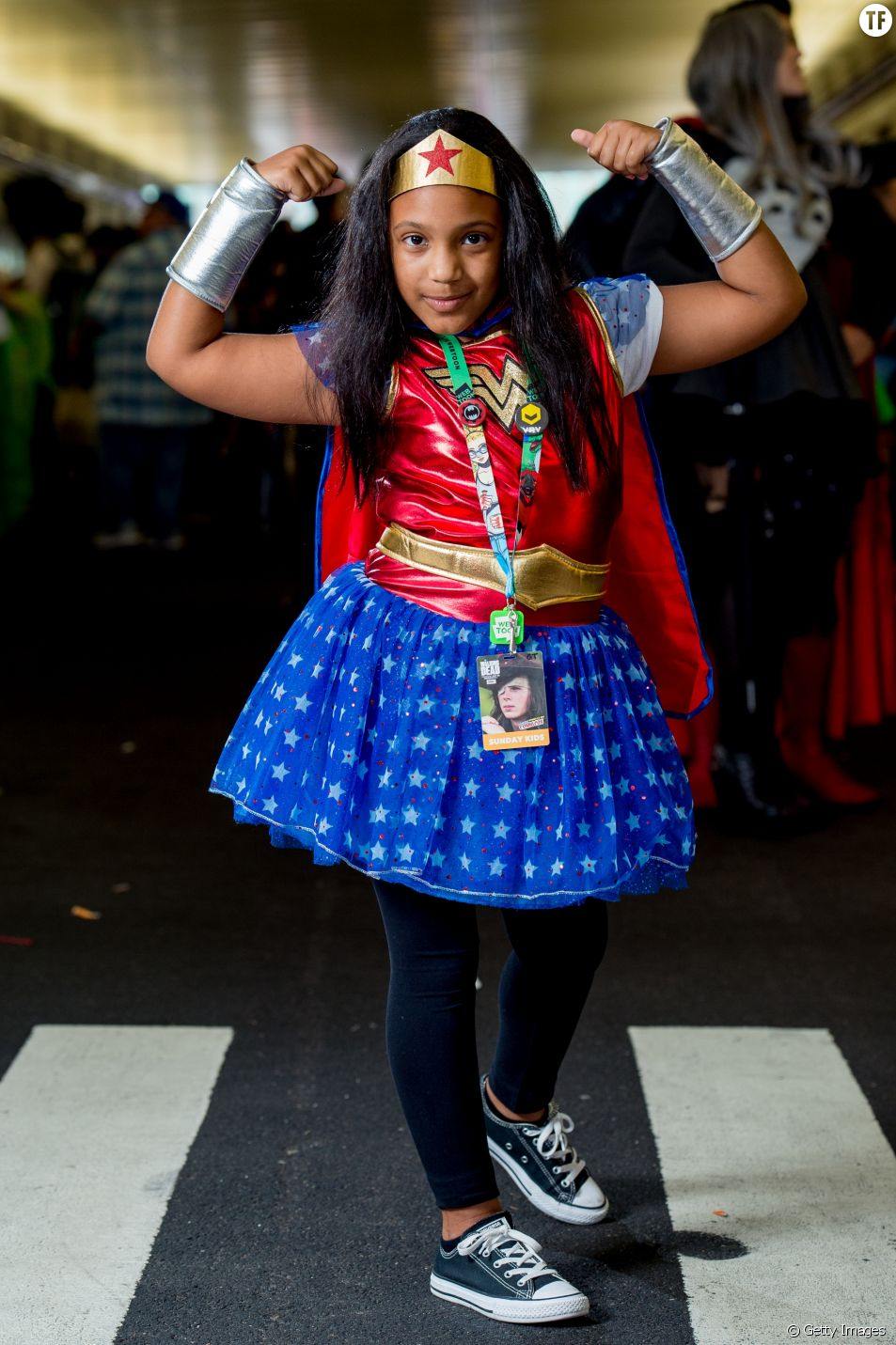 Une fille au Comic Con de New York le 8 octobre 2018