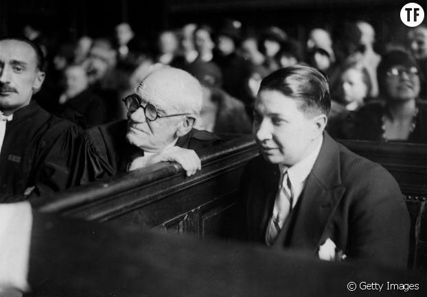 Violette Maurice à son procès contre la fédération