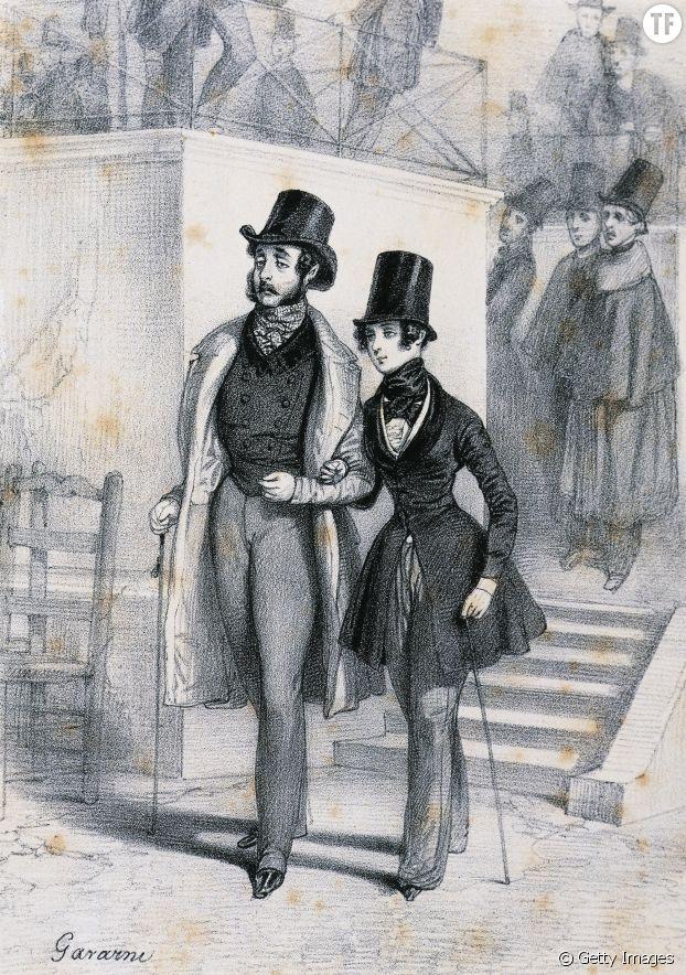 George Sand en pantalon avec Henri de Latouche