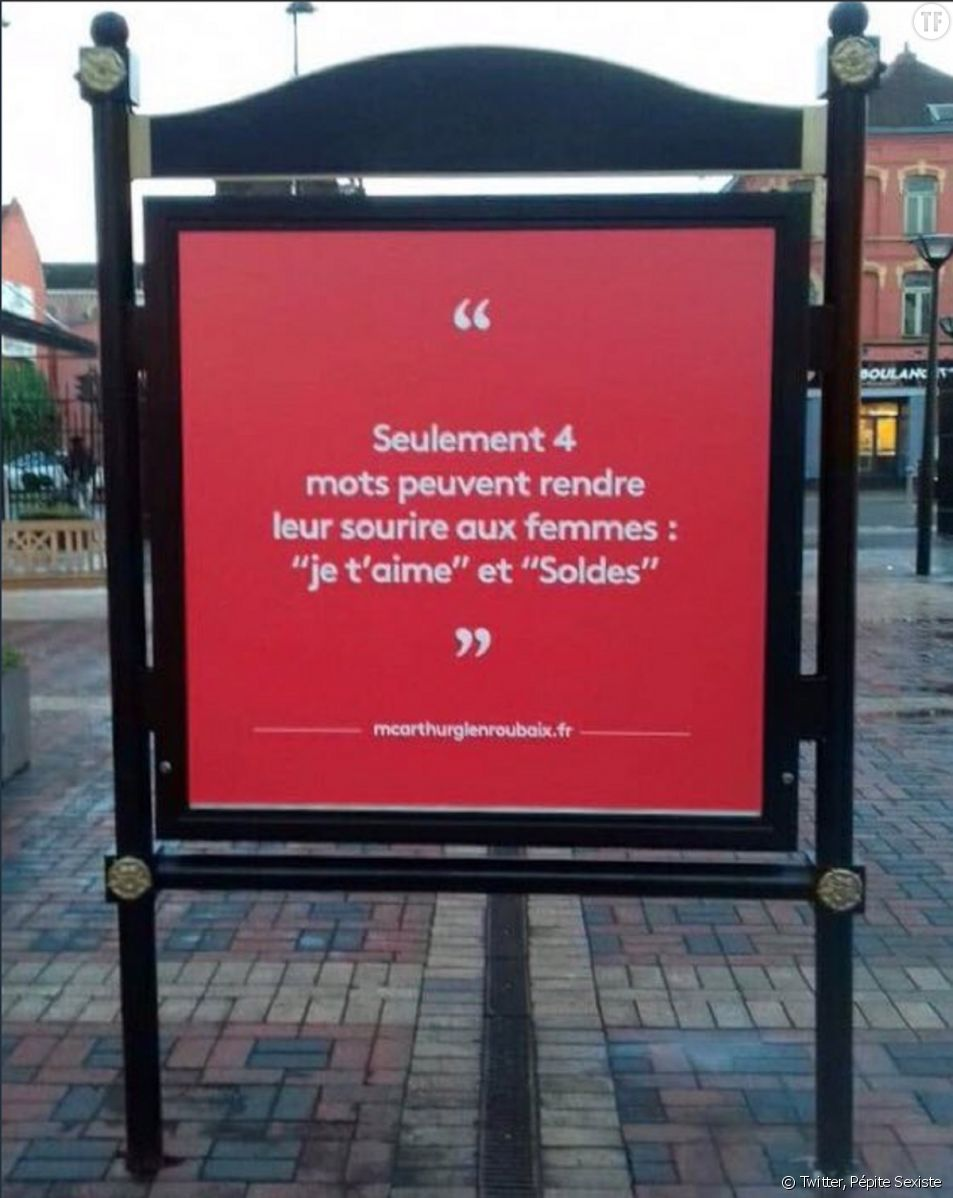 L'affiche sexiste de McArthurGlen Roubaix