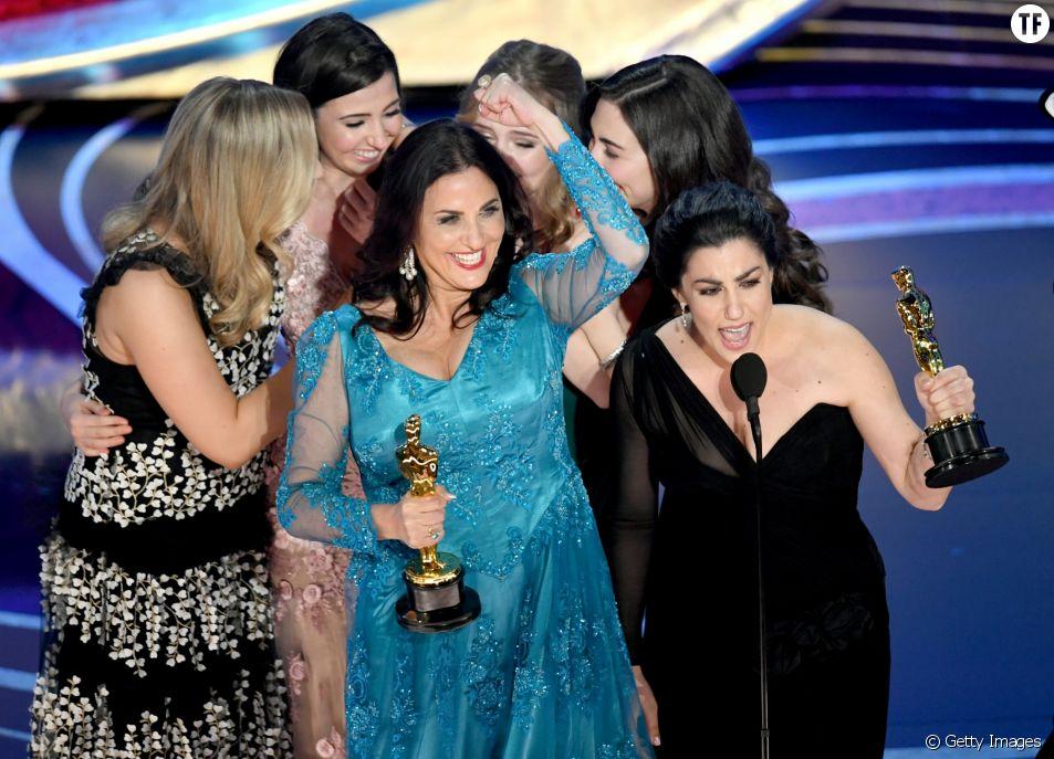 Melissa Berton à gauche et Rayka Zehtabchi à droite récompensées aux Oscars 2019