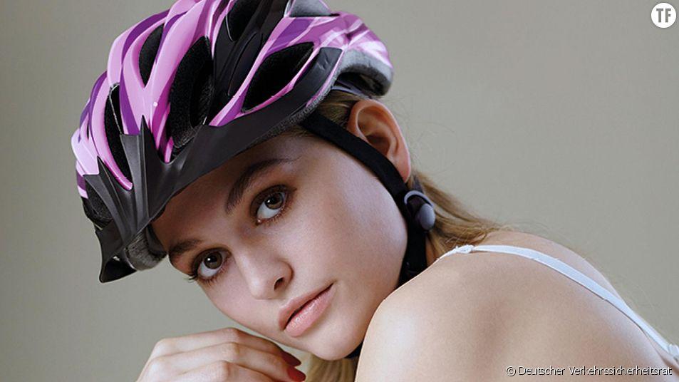 La campagne pour le port du casque à vélo en Allemagne