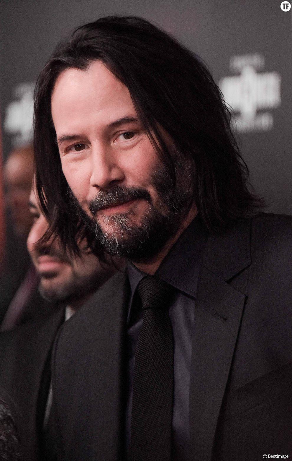 Keanu Reeves lors de la première de John Wick Parabellum à New York le 9 mai 2019.