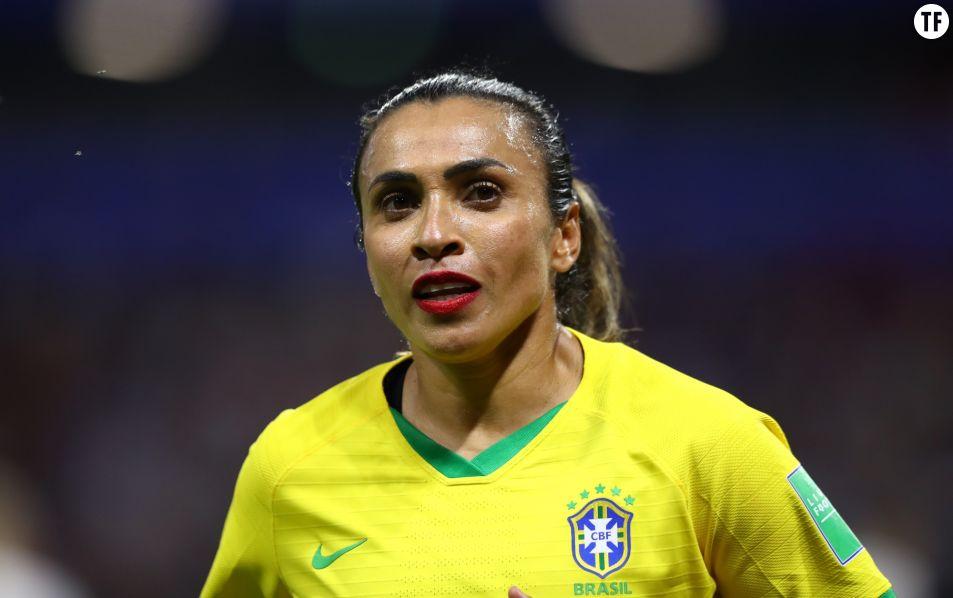 La joueuse brésilienne Marta Vieira da Silva - Getty Images -