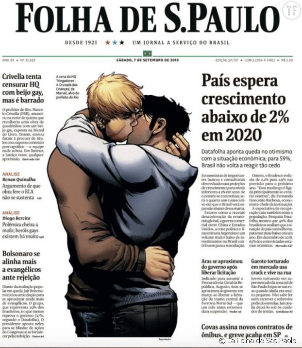 Une du 7 septembre, La Folha de Sao Paolo