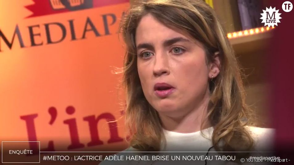 """Adèle Haenel témoigne sur le plateau de """"Médiapart""""."""
