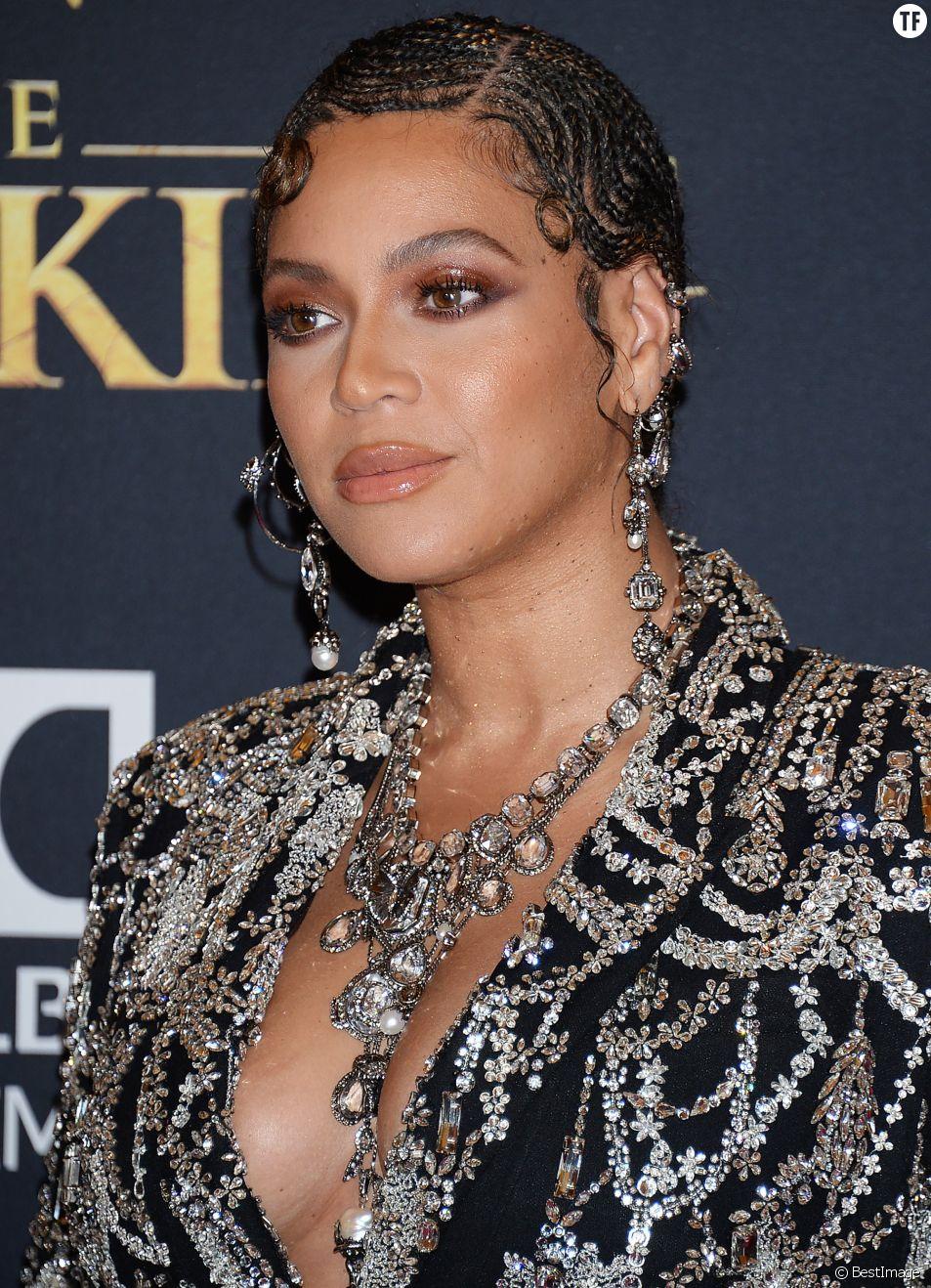Beyoncé à la première de The Lion King au théâtre Dolby dans le quartier de Hollywood à Los Angeles, le 9 juillet 2019