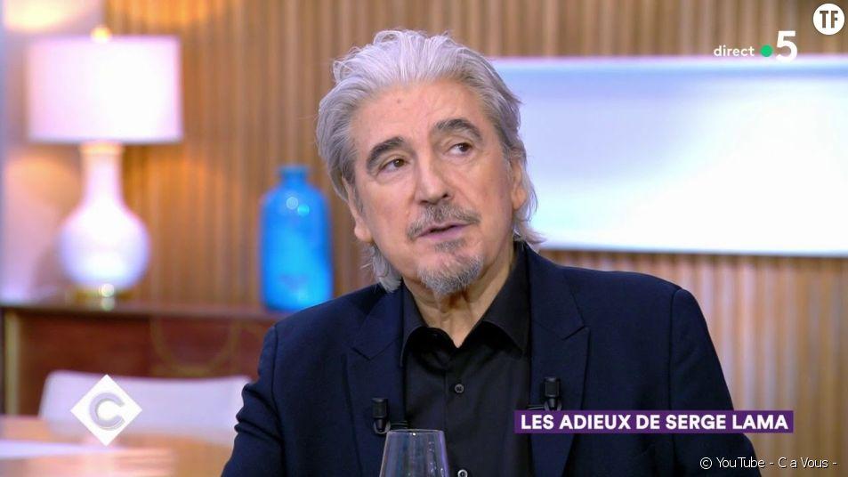 """Serge Lama dérape dans l'émission """"C A Vous""""."""