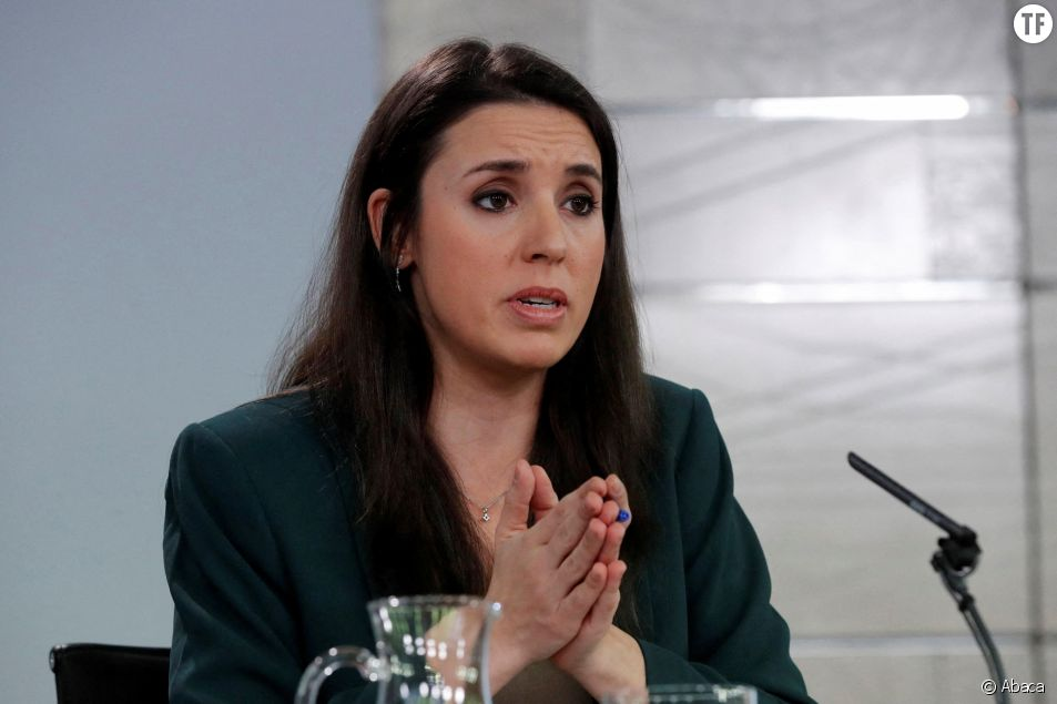 La ministre espagnole de l'égalité femmes/hommes Irene Montero a décidé d'agir.